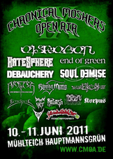 10.06.2011: 9. Chronical Moshers Open Air 2011